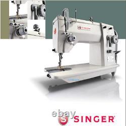 Singer 20u83 Machine À Coudre Industrielle Zig-zag Avec Table Et Moteur Servo