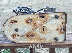 Speedy Air Compressor Works Fonctionne Rat Rod Industrial Vtg Gen Electric Motor 1/4