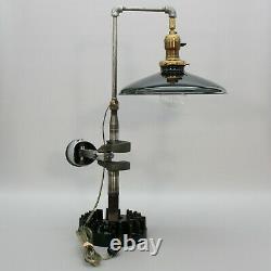 Steampunk Lamp Engine Crankshaft Piston Motor Mechanic Industrial Garage Light