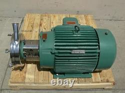 Tri-clover Taille Industrielle Pompe Centrifuge Sanitaire Avec Un Moteur De 40hp Reliance