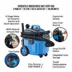 Vacmaster 4 Gallon, 5 Peak HP Avec 2 Étages À Moteur Industriel À Vide/à Plancher Sec