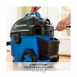 Vacmaster 4 Gallon, 5 Peak HP Avec Moteur Industriel 2 Étages Wet/dry Floor Vac