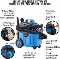 Vacmaster 4 Gallon 5 Peak HP Avec Moteur Industriel À 2 Étages Wet/dry Floor Vacu