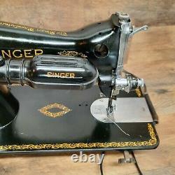 Vintage 1950 Singer 15-91 Machine À Coudre Industrial Direct Drive Electric Motor