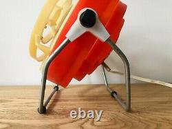 Vintage Moderniste Art Déco Industriel Design Table De Bureau Ventilateur Électrique 1960 Urss