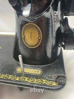 Vtg 1954 Singer 15-91 Machine À Coudre Industrial Electric Motor Original Receipt