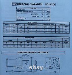 Warn Industrial Dc350-cf Holding Moteur 24v Elektrische Seilwinde Treuil Électrique
