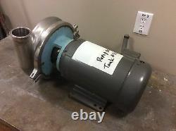 Waukesha 2085 Pompe Centrifuge En Acier Inoxydable 3 X 2-1/2 Tri-clamp